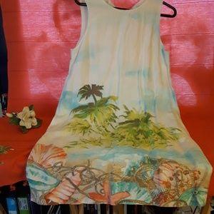 J.Jill sleeveless linen beach dress sz S